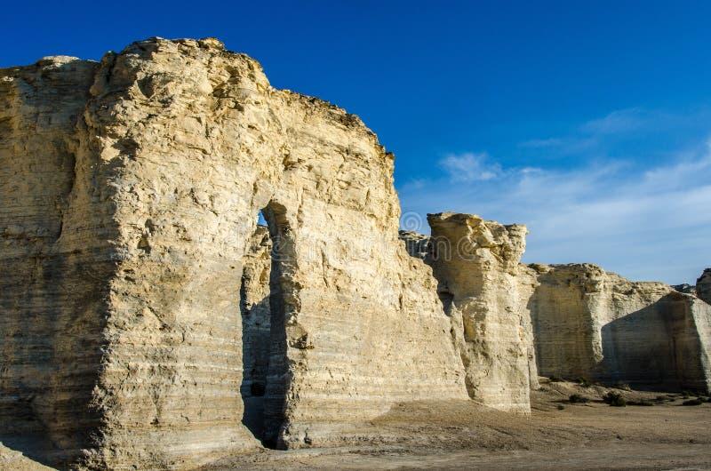 Piramidi del gesso della roccia del monumento fotografie stock libere da diritti
