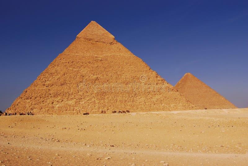 Piramidi dell'Egitto immagini stock libere da diritti