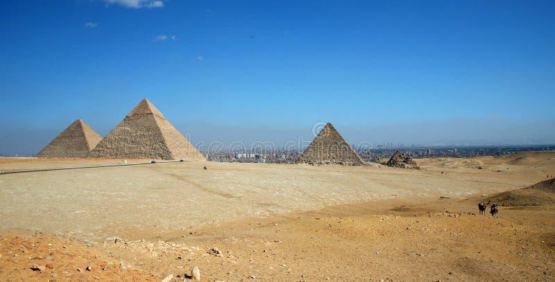 Piramidi di Giza immagini stock libere da diritti