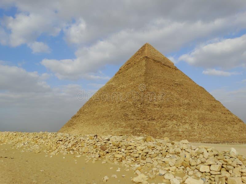 Piramidi di Giza, Egitto fotografia stock libera da diritti