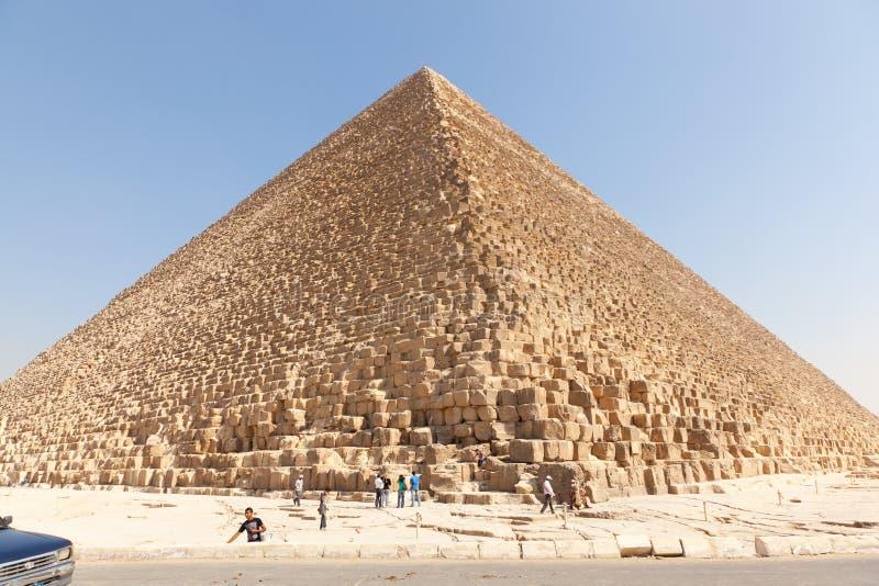 Piramidi di Giza, Egitto (stadio) immagini stock libere da diritti