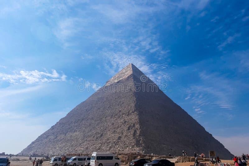 Piramidi di Giza Grandi piramidi dell'Egitto La settima meraviglia del mondo Megaliti antiche fotografia stock
