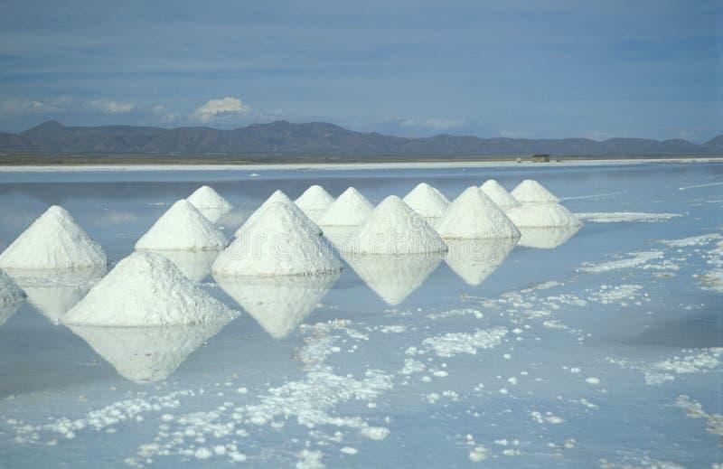 Piramidi di sale immagini stock