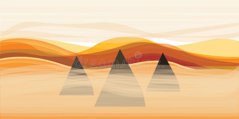 Piramidi e sabbia immagine stock libera da diritti