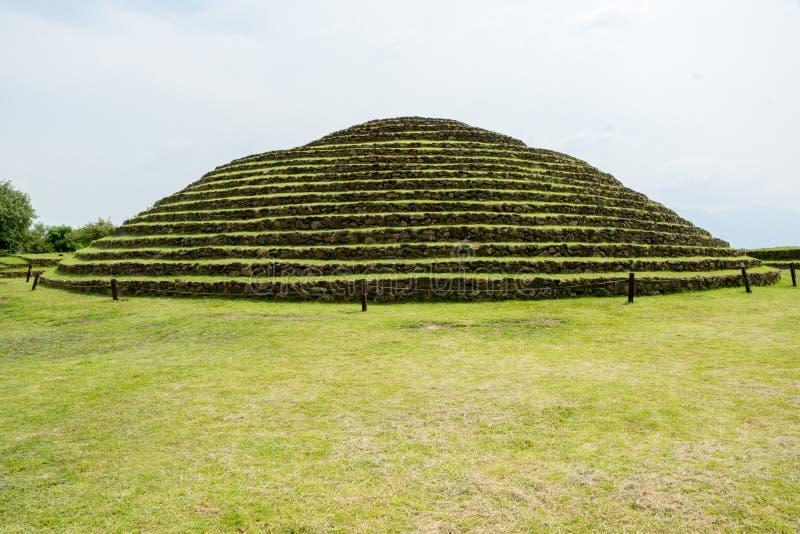 Piramidi rotonde di Guachimontones fotografia stock libera da diritti