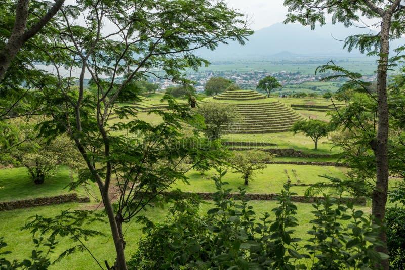 Piramidi rotonde di Guachimontones immagini stock libere da diritti