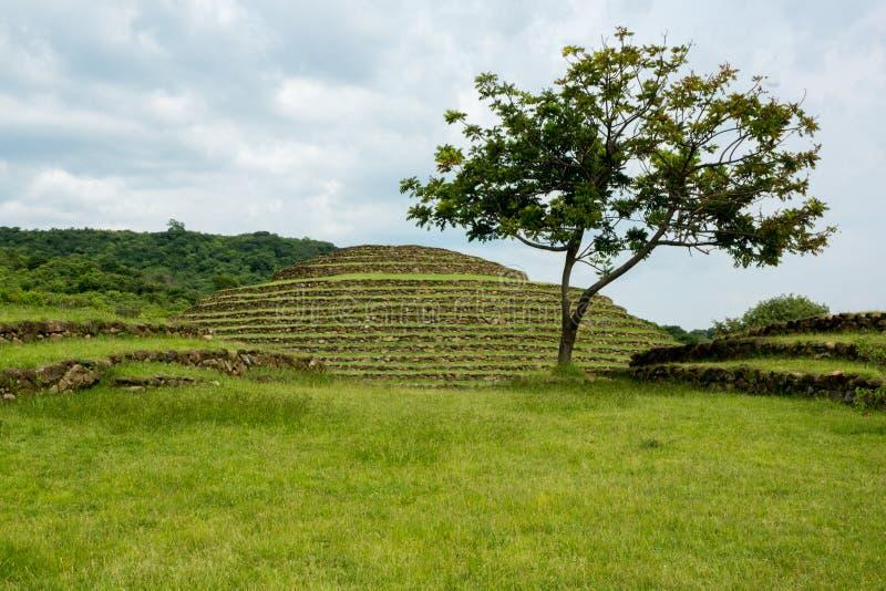 Piramidi rotonde di Guachimontones immagine stock libera da diritti