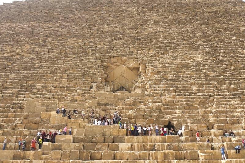 piramidy w gizie Egipt wielcy Ostrosłupy Siódmego cud świat Antyczni megality obrazy stock