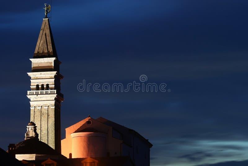 Piran au crépuscule photographie stock libre de droits
