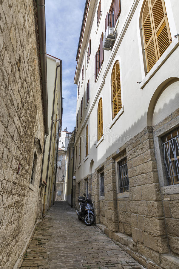 Piran Old Town in Slovenia royalty free stock image