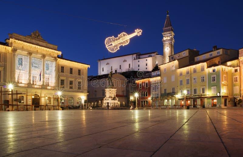 Piran - Slovenië stock foto's