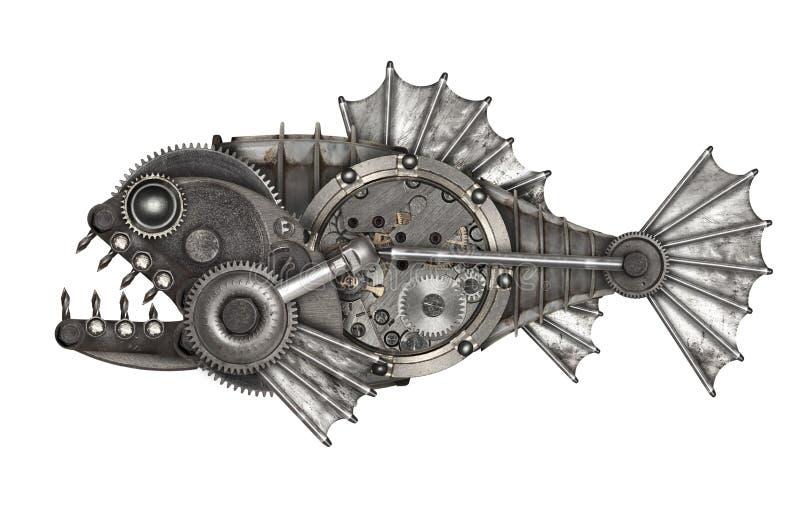 Piranha ύφους Steampunk στοκ εικόνες με δικαίωμα ελεύθερης χρήσης