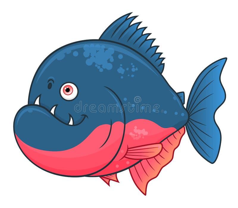 Piranha шаржа смешной иллюстрация штока