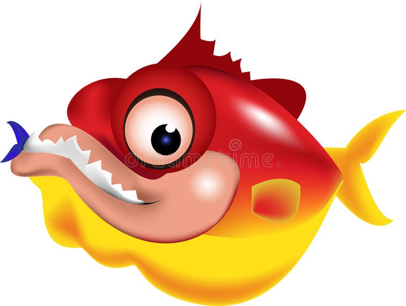 Piranha illustration royalty free stock photo