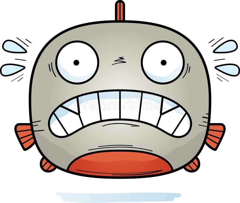 Piranha pequena assustado ilustração stock
