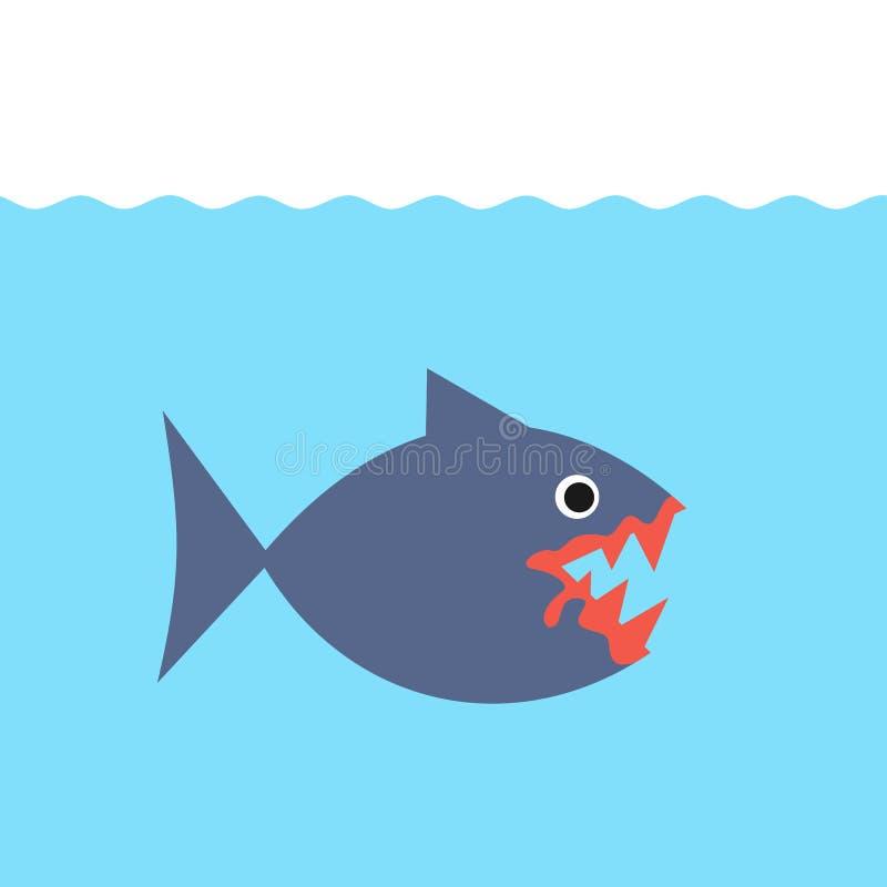 Piranha/pirana и плотоядные рыбы бесплатная иллюстрация