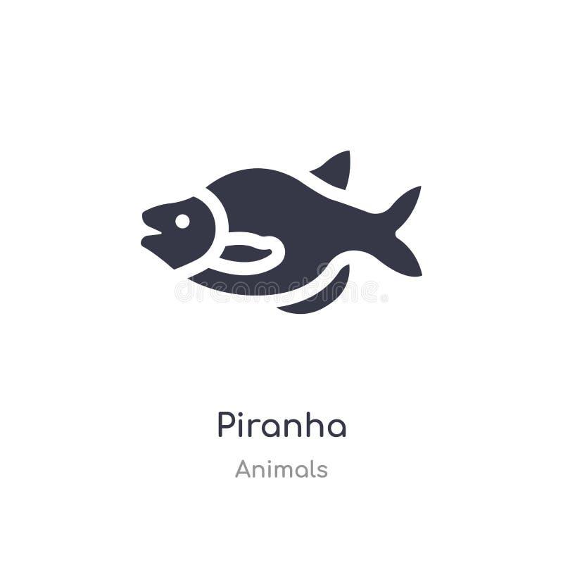 Piranhasymbol isolerad illustration för piranhasymbolsvektor från djursamling redigerbart sjunga symbolet kan vara bruk f?r webbp stock illustrationer
