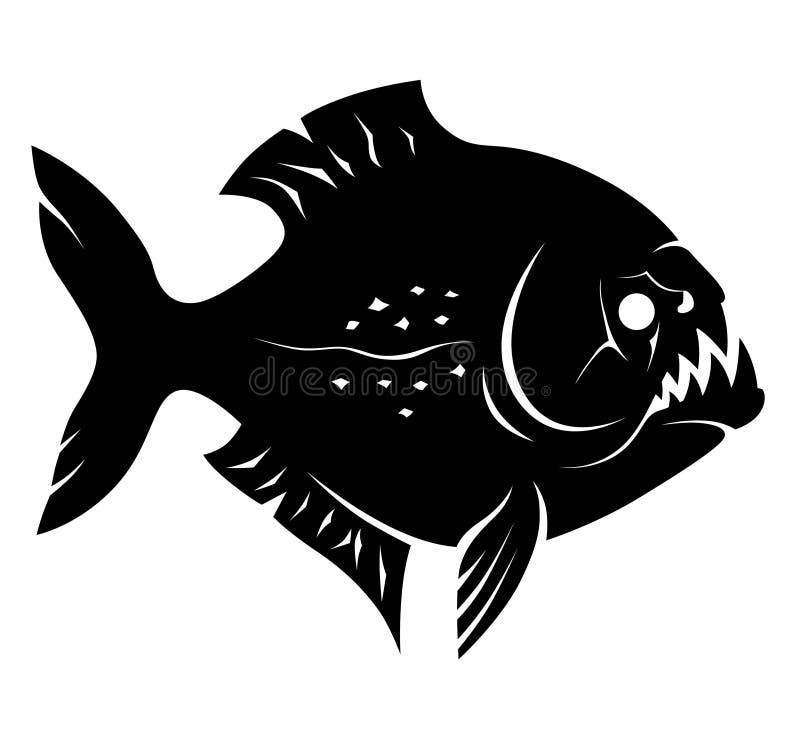Piranhateken stock illustratie