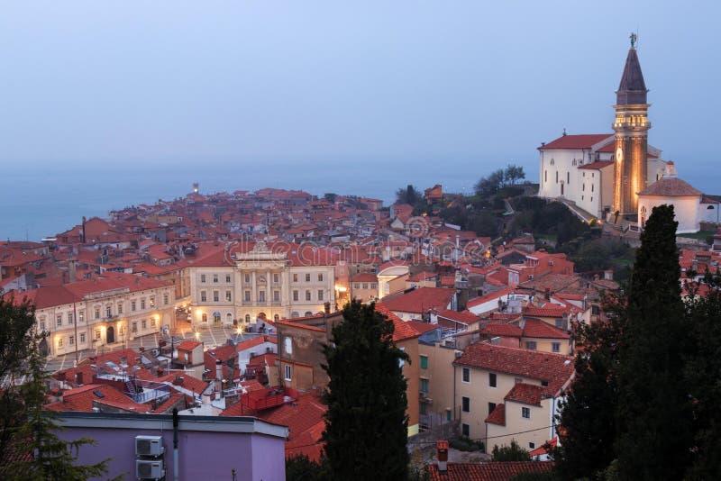 Pirano o Piran en Istria esloveno foto de archivo