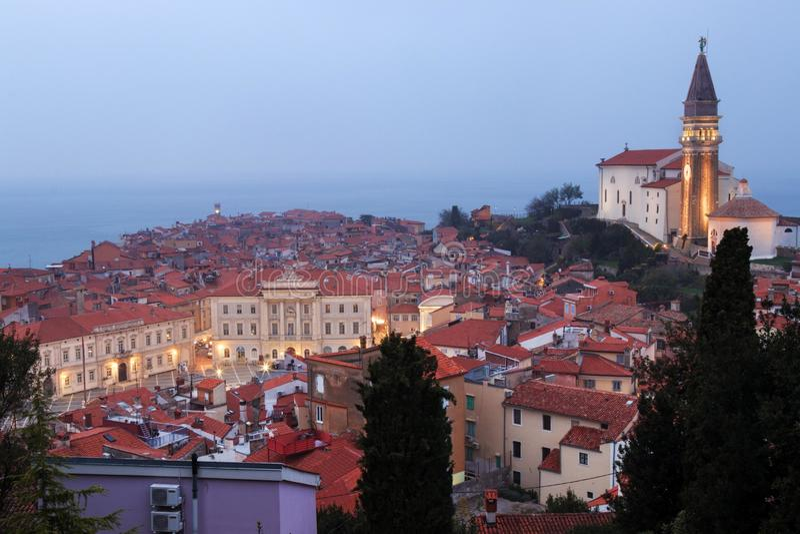 Pirano o Piran in Istria sloveno fotografia stock