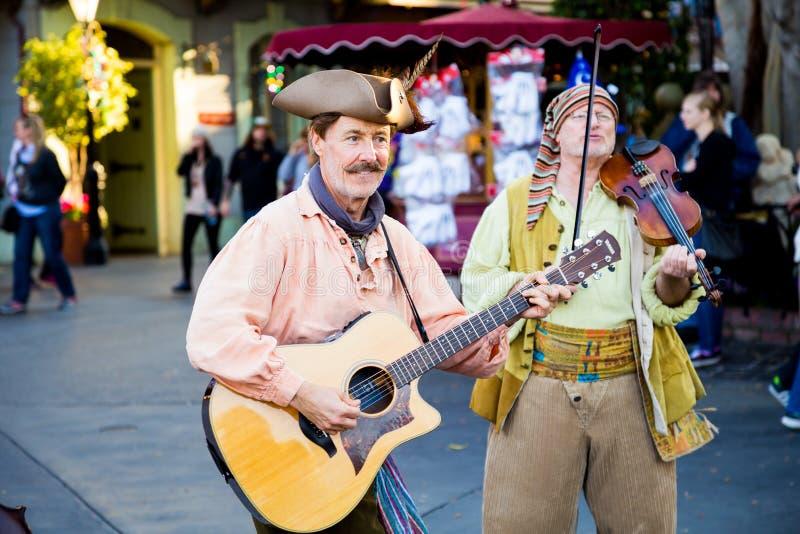 Piratów muzycy Disneyland obraz royalty free