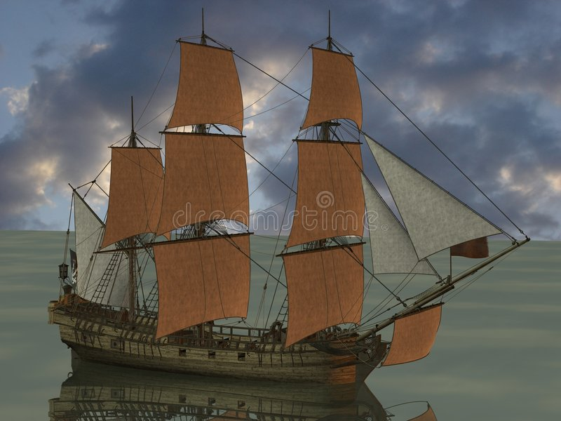 pirat łodzi ilustracja wektor