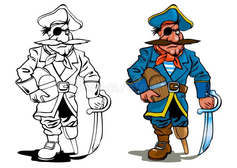 pirat royalty ilustracja