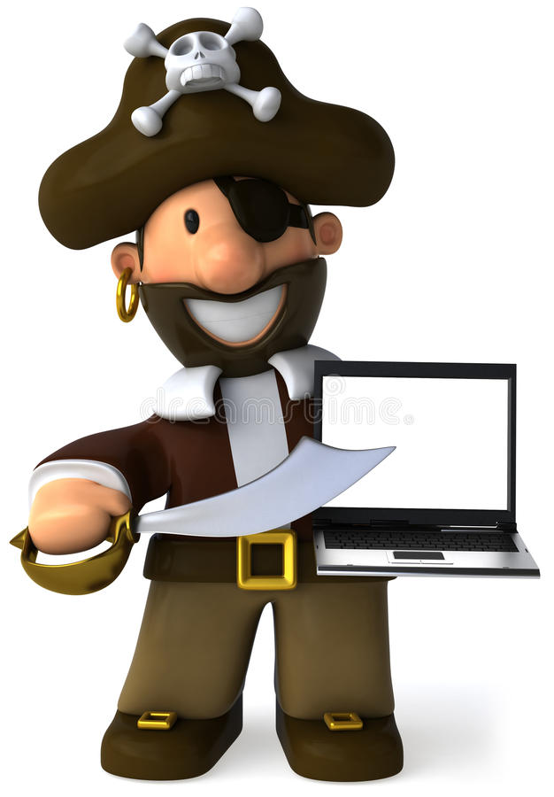 Pirat stock abbildung