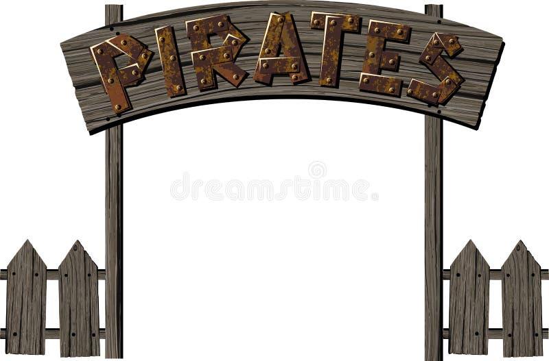 Pirat brama ilustracji