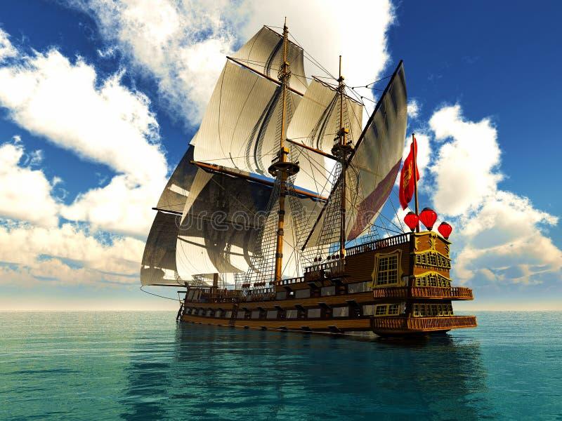 Pirat Brigantine stockfoto