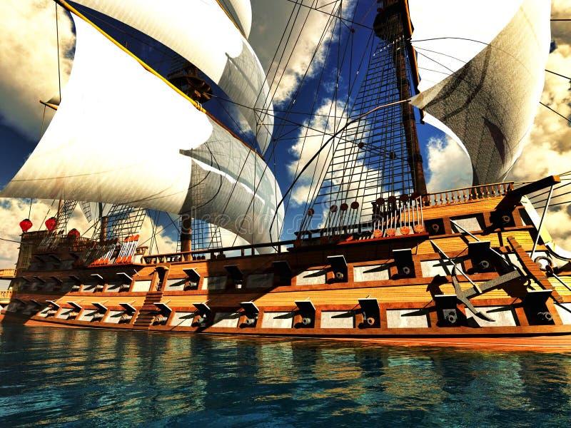 Pirat Brigantine lizenzfreie stockfotos