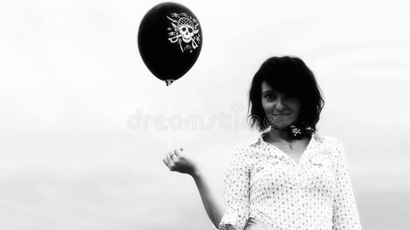 Pirat brunetki dziewczyna fotografia obraz stock