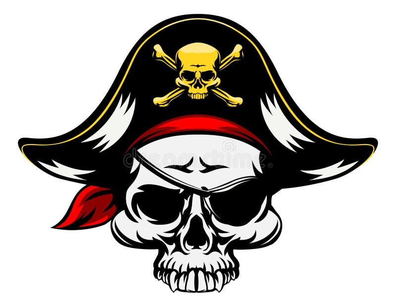 pirat czaszka ilustracji