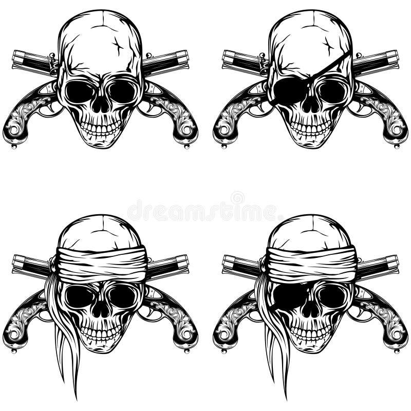 pirat czaszka ilustracja wektor