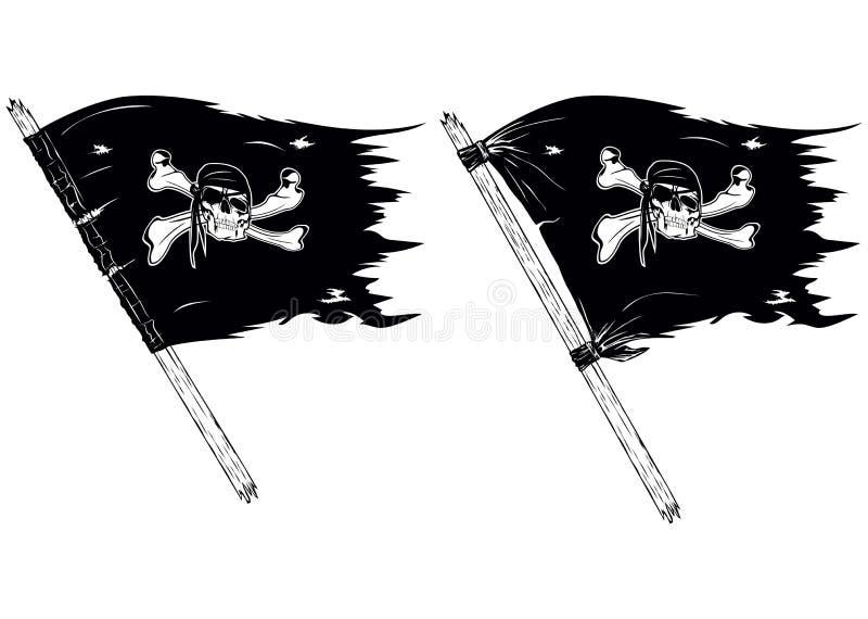Pirat flaga ilustracja wektor