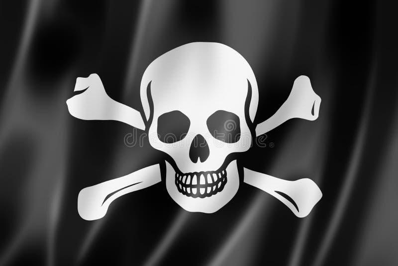 Pirat flaga, Byczy Roger ilustracja wektor