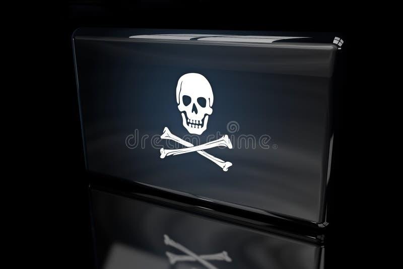 Pirat flaga 3D wolumetryczna ilustracja wektor