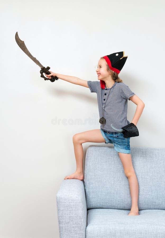 Pirat mała dziewczynka zdjęcie royalty free