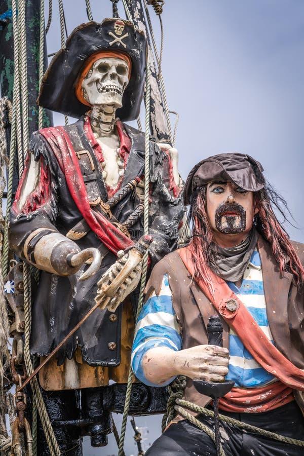 Pirat postacie na statku obrazy royalty free