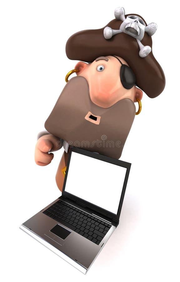 Pirat und Computer vektor abbildung