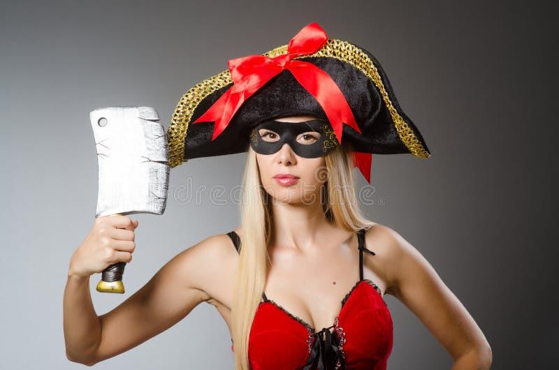 Pirat z maską fotografia royalty free