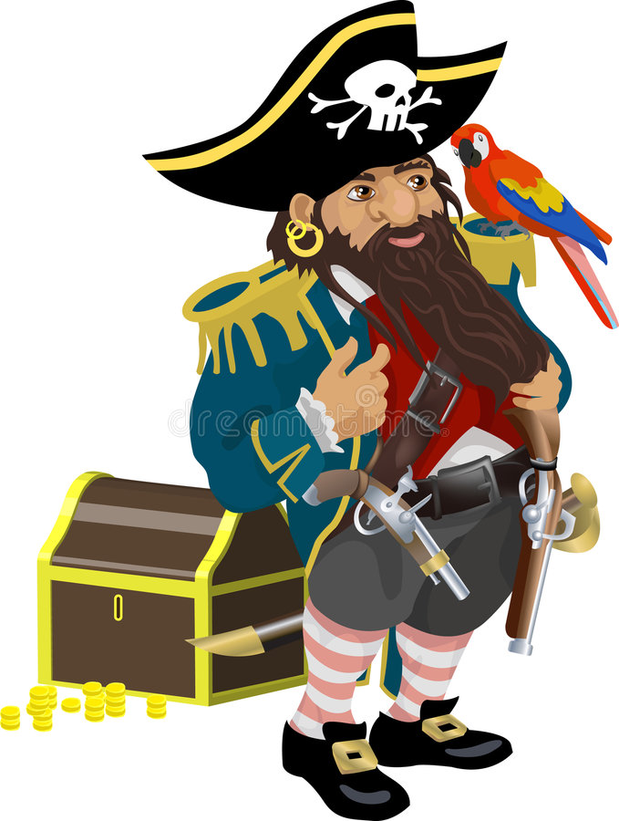 Pirata royalty illustrazione gratis