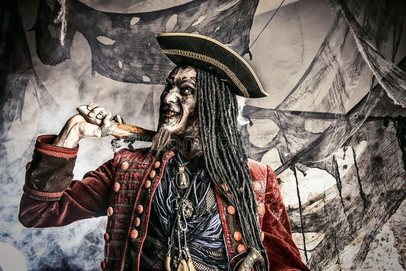 Pirata anziano morto fotografie stock