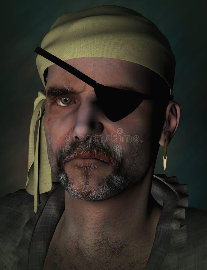 Pirata asustadizo ilustración del vector