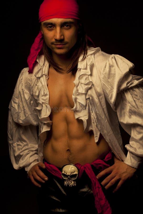 Pirata atractivo fotografía de archivo
