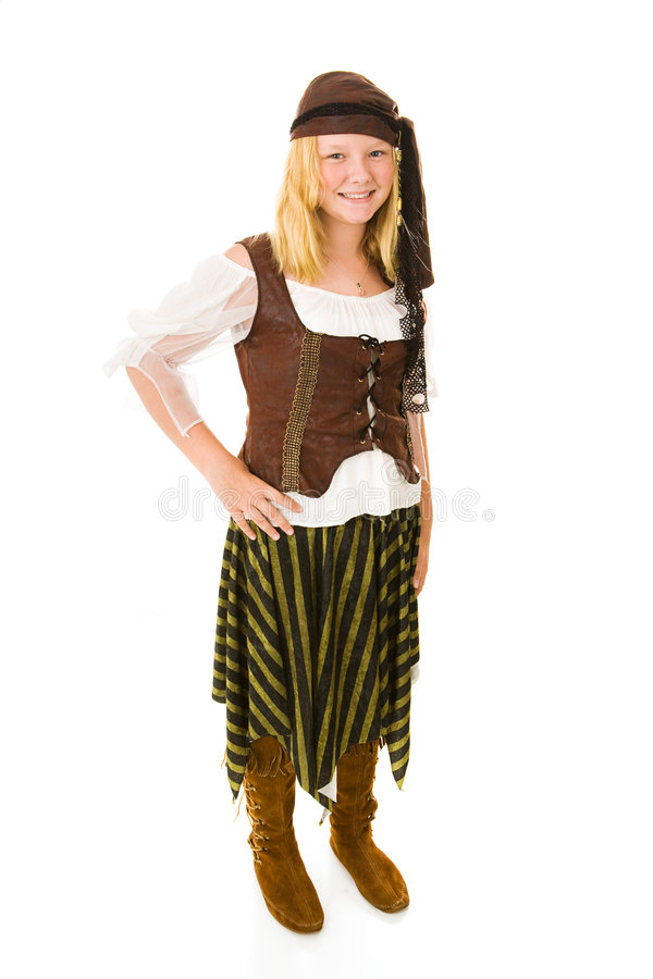 Pirata bonito de Halloween fotografia de stock