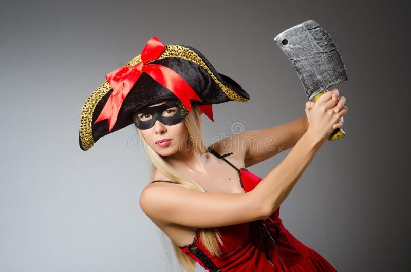 Pirata com máscara imagens de stock royalty free