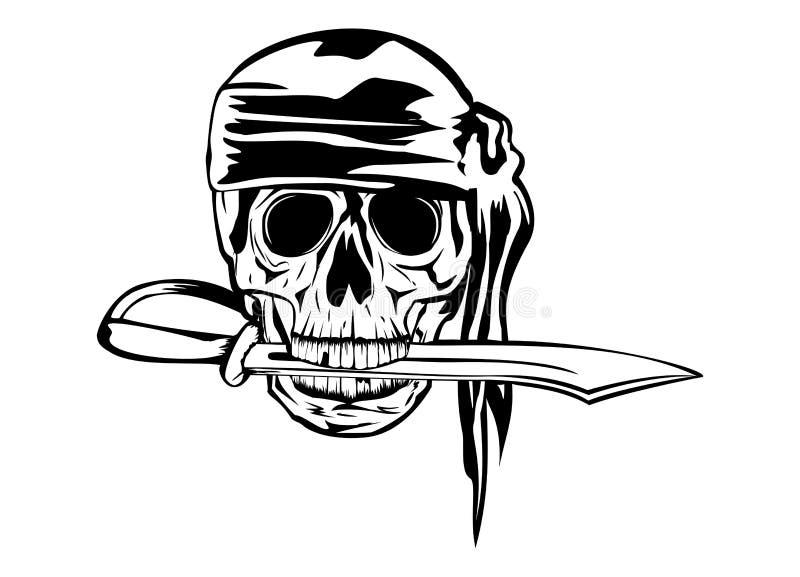 Pirata com punhal ilustração do vetor