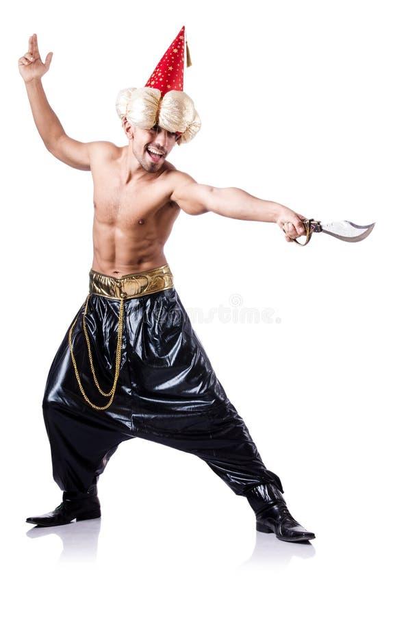 Pirata com punhal fotografia de stock royalty free