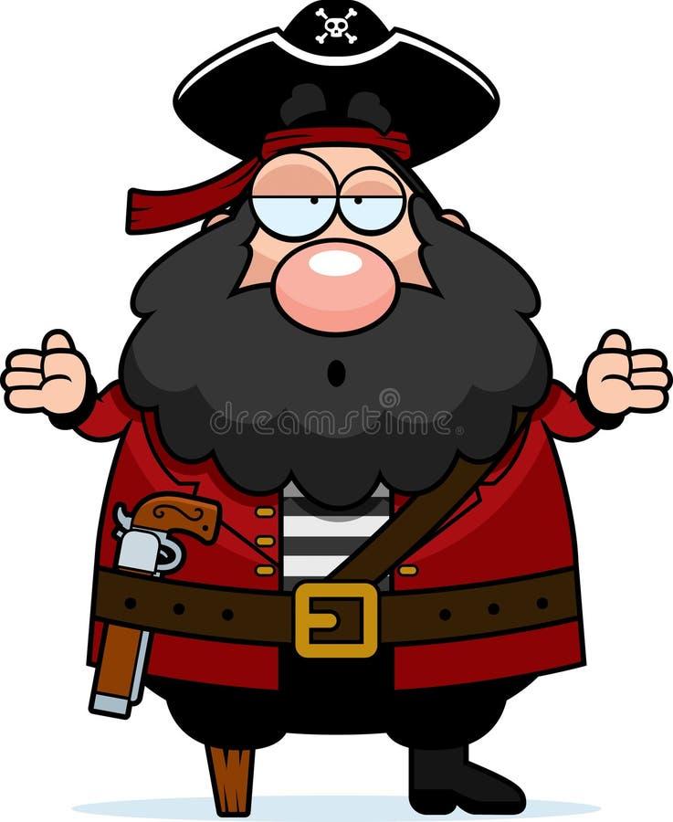 Pirata confundido ilustração royalty free
